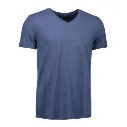 CORE V-Neck Tee Herren T-Shirt 542 von ID / Farbe: blau  / 100% BAUMWOLLE - | Wenn Kasack - Dann MEIN-KASACK.de | Kasack