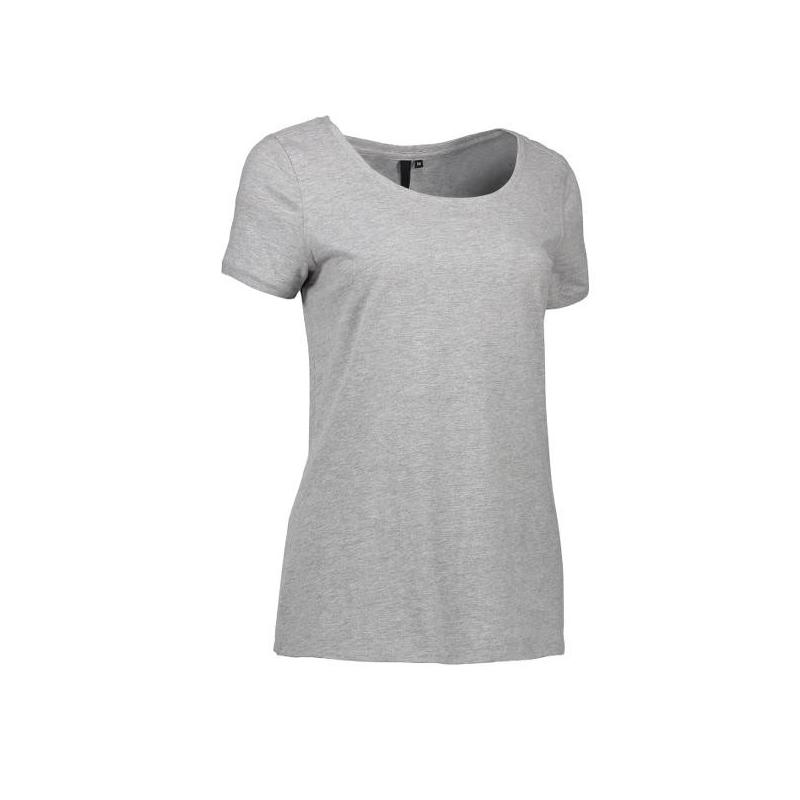 CORE O-Neck Tee Damen T-Shirt 541 von ID / Farbe: grau / 100% BAUMWOLLE - | Wenn Kasack - Dann MEIN-KASACK.de | Kasacks