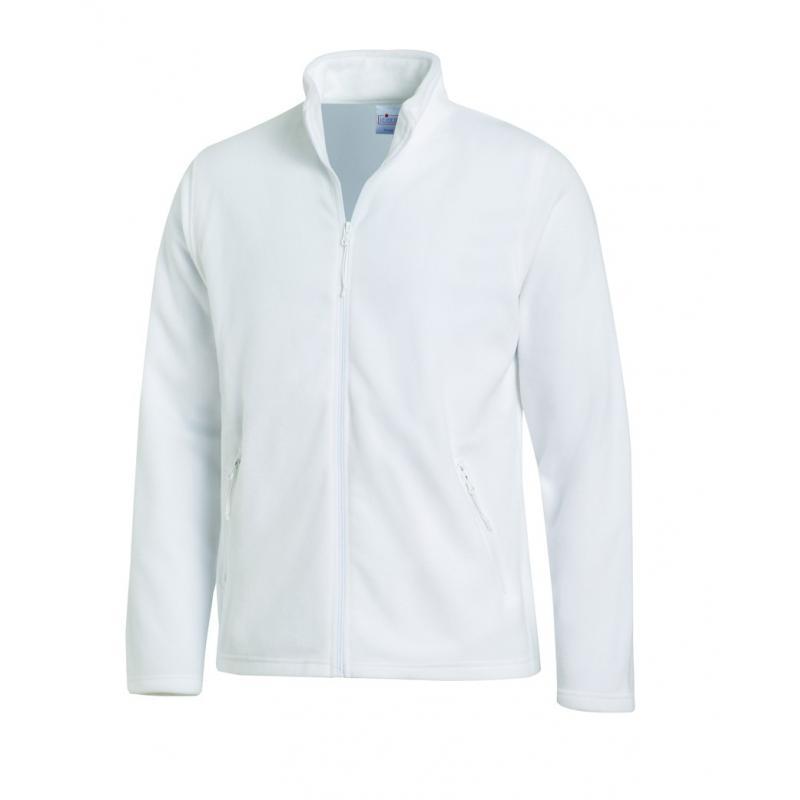 Fleecejacke (Herren) 2665 von LEIBER / Farbe: weiß / 100 % Polyester - | Wenn Kasack - Dann MEIN-KASACK.de | Kasacks für