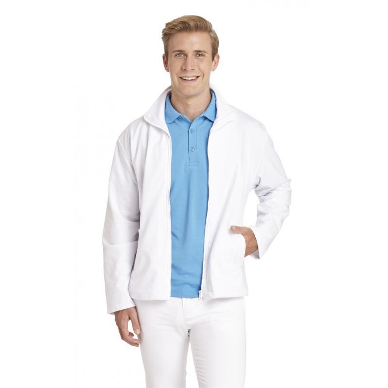 Sweatjacke (Herren) 1095 von LEIBER / Farbe: weiß / 50 % Baumwolle 50 % Polyester - | Wenn Kasack - Dann MEIN-KASACK.de