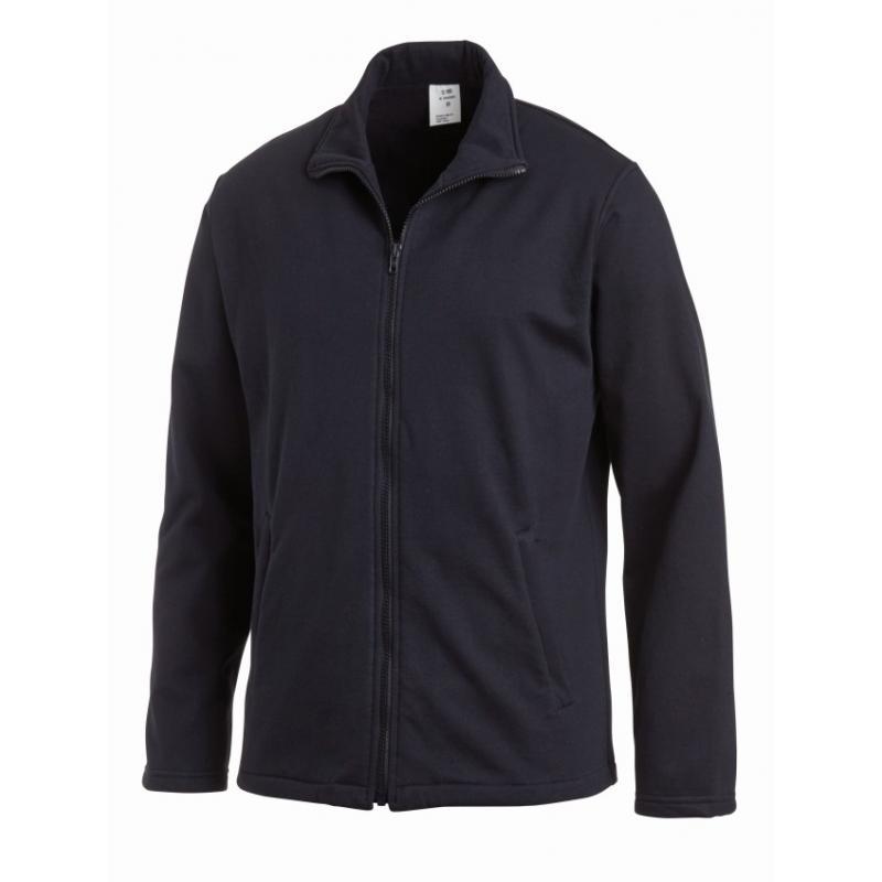 Sweatjacke (Herren) 1095 von LEIBER / Farbe: marine / 50 % Baumwolle 50 % Polyester - | Wenn Kasack - Dann MEIN-KASACK.d