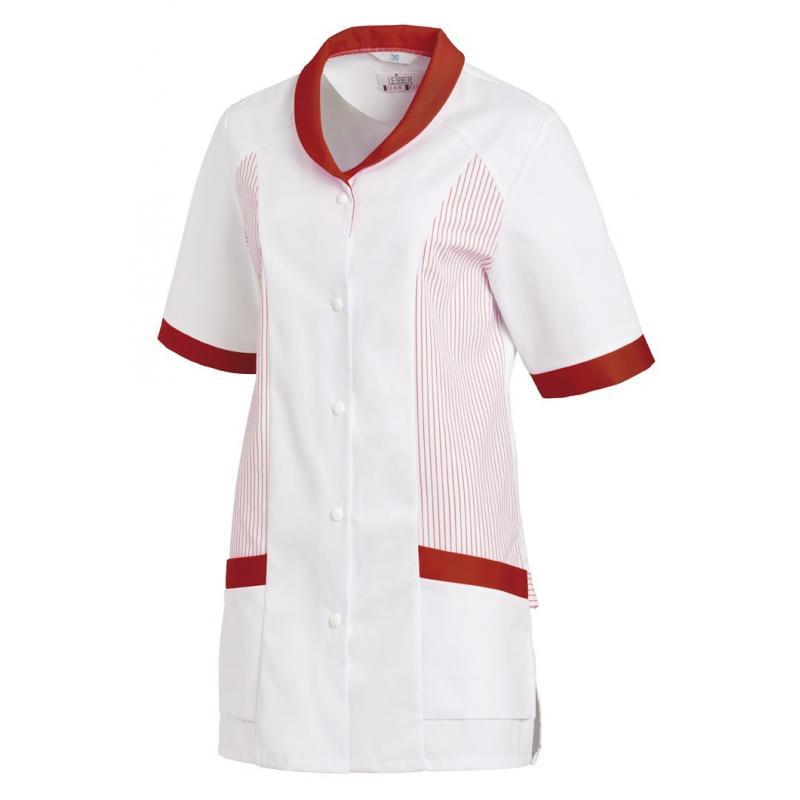 Hosenkasack 800 von LEIBER / Farbe: weiß-rot / 65 % Polyester 35 % Baumwolle - | MEIN-KASACK.de