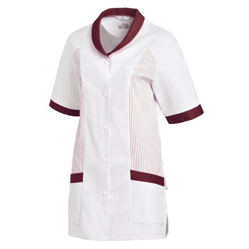 Hosenkasack 800 von LEIBER / Farbe: weiß-bordeaux / 65 % Polyester 35 % Baumwolle - | MEIN-KASACK.de