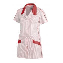 Damen -  Hosenkasack 559 von LEIBER / Farbe: weiß-rot / 65 % Polyester 35 % Baumwolle - | MEIN-KASACK.de | kasack | kasa