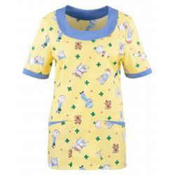 Kasack 2384 von BEB / Kindermotiv - gelb / 35% Baumwolle 65% Polyester - | Wenn Kasack - Dann MEIN-KASACK.de | Kasacks f
