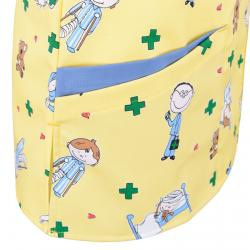 Damen -  Kasack 2384 von BEB / Kindermotiv - gelb / 35% Baumwolle 65% Polyester - | MEIN-KASACK.de