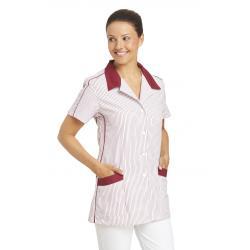 Hosenkasack 559 von LEIBER / Farbe: weiß-bordeaux / 65 % Polyester 35 % Baumwolle - | Wenn Kasack - Dann MEIN-KASACK.de