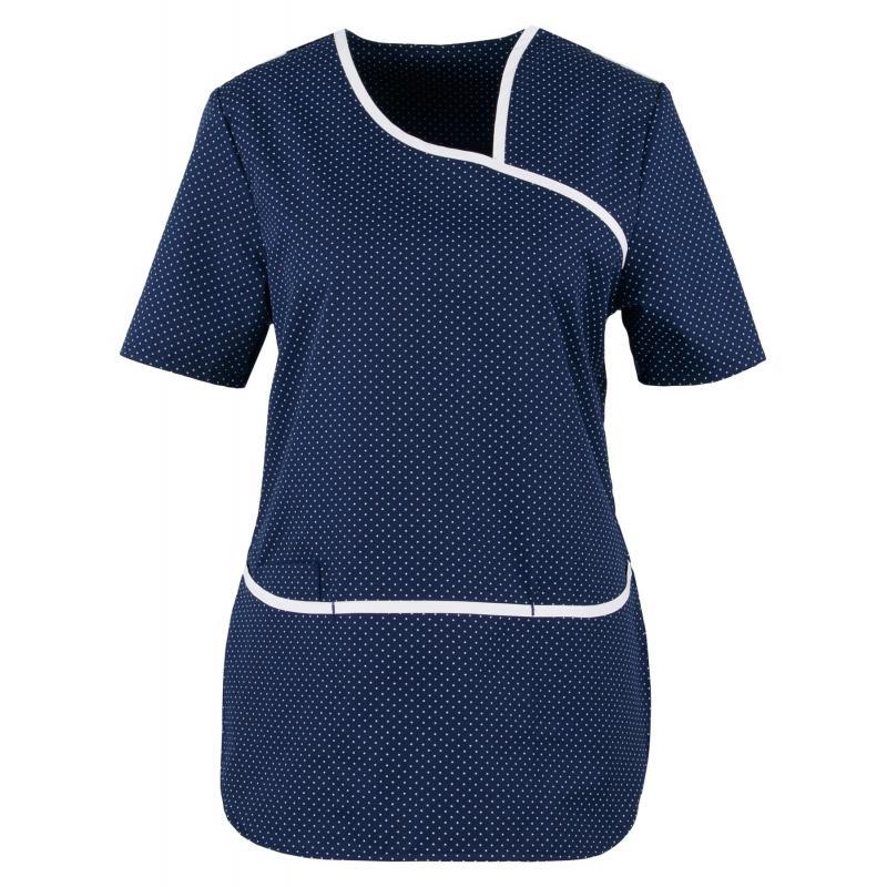 Kasack 2382 von BEB / Farbe: blau-weiß / Stretcheinsatz - 35% Baumwolle 65% Polyester - | Wenn Kasack - Dann MEIN-KASACK
