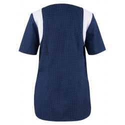 Damen -  Kasack 2382 von BEB / Farbe: blau-weiß / Stretcheinsatz - 35% Baumwolle 65% Polyester - | MEIN-KASACK.de