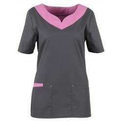 Kasack 2436 von BEB / Farbe: dunkelgrau-lila-lagune / Stretchgewebe - 49% Baumwolle 48% Polyester 3% Elastolefin - | Wen