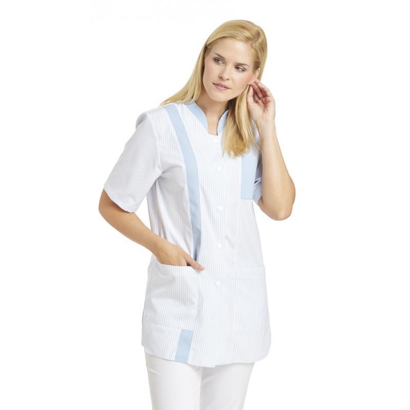 Hosenkasack 634 von LEIBER / Farbe: weiß-hellblau / 65 % Polyester 35 % Baumwolle - | Wenn Kasack - Dann MEIN-KASACK.de