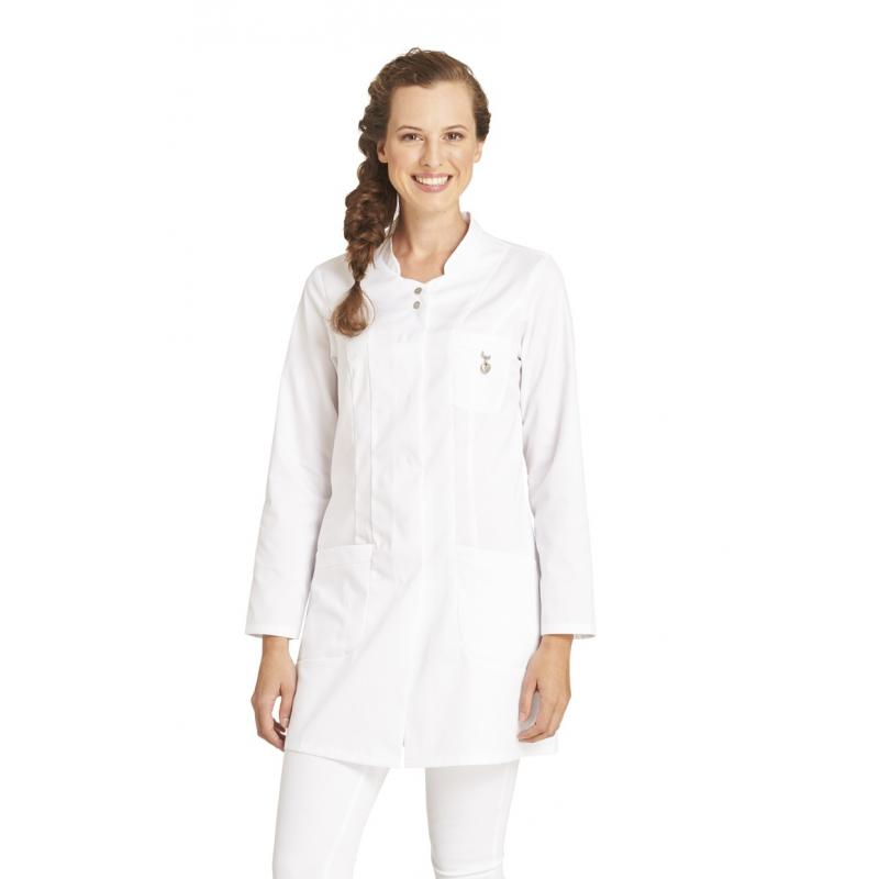 Damen -  Longkasack 2503 von LEIBER / Farbe: weiß /  50% Baumwolle 50% Polyester ca. 180 g/m² - | MEIN-KASACK.de | kasac