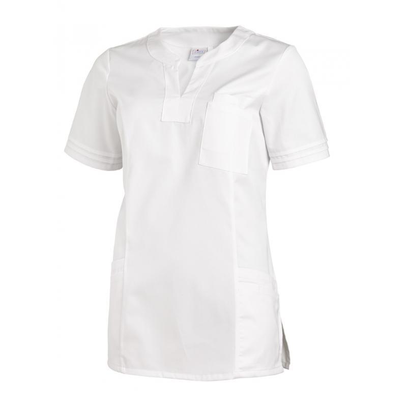 Damen -  Schlupfjacke 2557 von LEIBER / Farbe: weiß / 50 % Baumwolle 50 % Polyester - | MEIN-KASACK.de