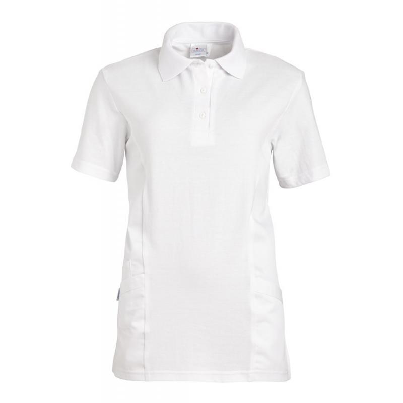 Schlupfjacke - Polo - 2546 von LEIBER / Farbe: weiß / 50 % Baumwolle 50 % Polyester - | Wenn Kasack - Dann MEIN-KASACK.d