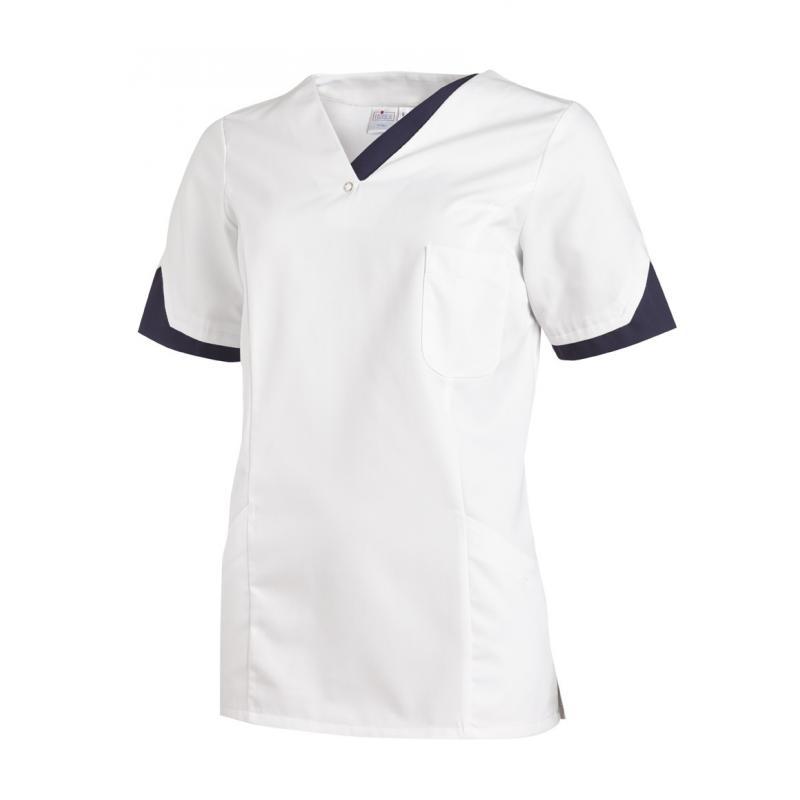 Damen -  Schlupfjacke 2539 von LEIBER / Farbe: weiß-marine / 65 % Polyester 35 % Baumwolle - | MEIN-KASACK.de | kasack |