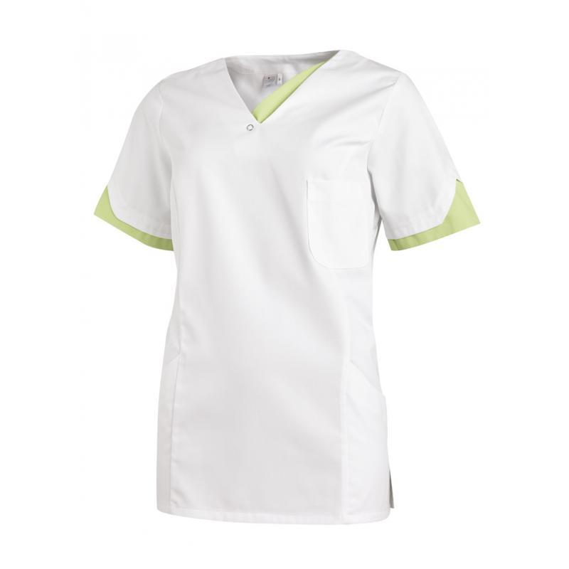 Schlupfjacke 2539 von LEIBER / Farbe: weiß-hellgrün / 65 % Polyester 35 % Baumwolle - | Wenn Kasack - Dann MEIN-KASACK.d