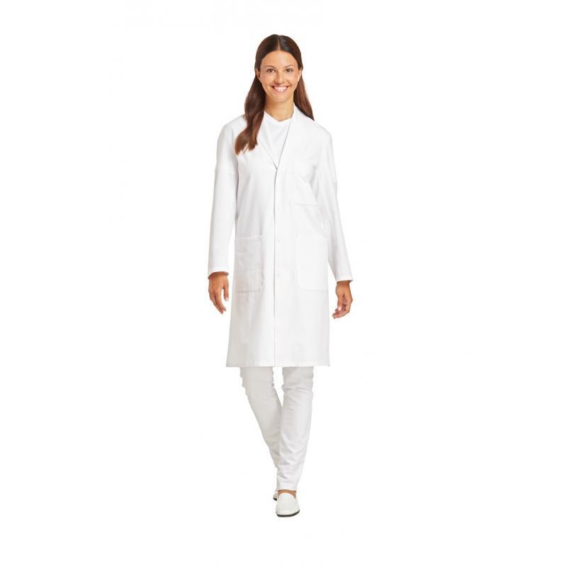 Unisex-Mantel 1166 von LEIBER / Farbe: weiß / 100 % Baumwolle - | Wenn Kasack - Dann MEIN-KASACK.de | Kasacks für die Al