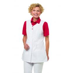 Damen -  Kasack 2758 von LEIBER / Farbe: weiß-rot / 65 % Polyester 35 % Baumwolle - | MEIN-KASACK.de