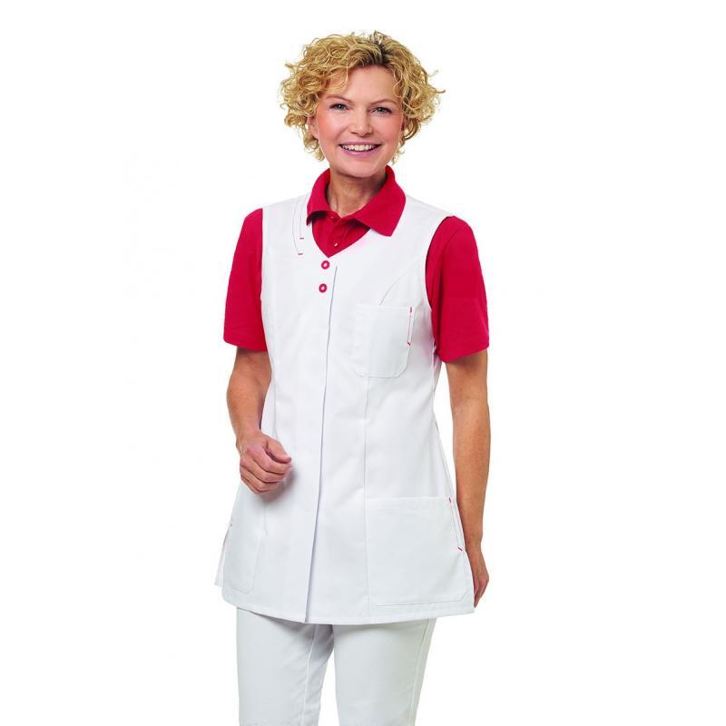 Kasack 2758 von LEIBER / Farbe: weiß-rot / 65 % Polyester 35 % Baumwolle - | Wenn Kasack - Dann MEIN-KASACK.de | Kasacks