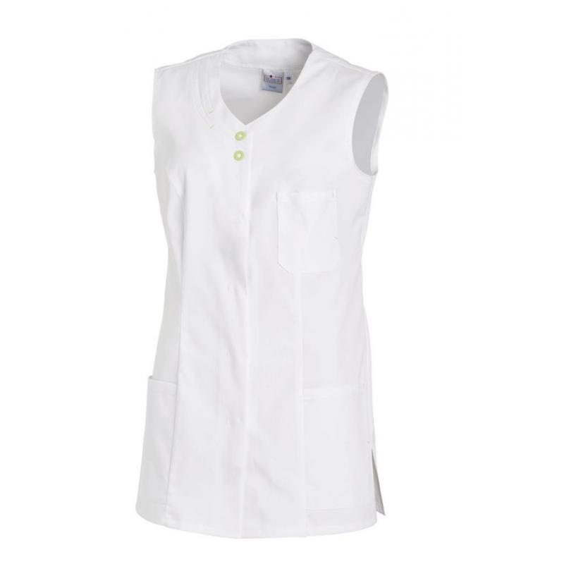 Kasack 2758 von LEIBER / Farbe: weiß-hellgrün / 65 % Polyester 35 % Baumwolle -   Wenn Kasack - Dann MEIN-KASACK.de   Ka