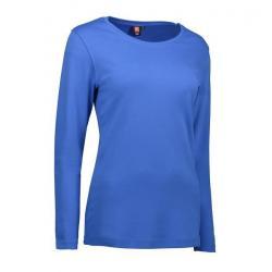 Interlock Damen T-Shirt   Langarm  0509 von ID / Farbe: azur / 100% BAUMWOLLE -   MEIN-KASACK.de   kasack   kasacks   ka