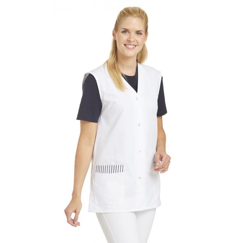 Kasack ohne Arm 515 von LEIBER / Farbe: weiß / 65 % Polyester 35 % Baumwolle - | Wenn Kasack - Dann MEIN-KASACK.de | Kas