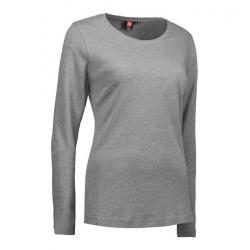 Interlock Damen T-Shirt | Langarm| 0509 von ID / Farbe: grau / 100% BAUMWOLLE - | MEIN-KASACK.de
