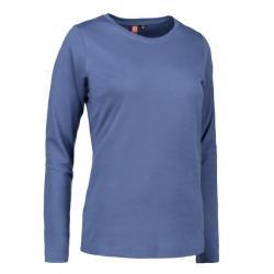 Interlock Damen T-Shirt | Langarm| 0509 von ID / Farbe: indigo / 100% BAUMWOLLE - | MEIN-KASACK.de