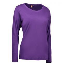 Interlock Damen T-Shirt | Langarm| 0509 von ID / Farbe: lila / 100% BAUMWOLLE - | MEIN-KASACK.de