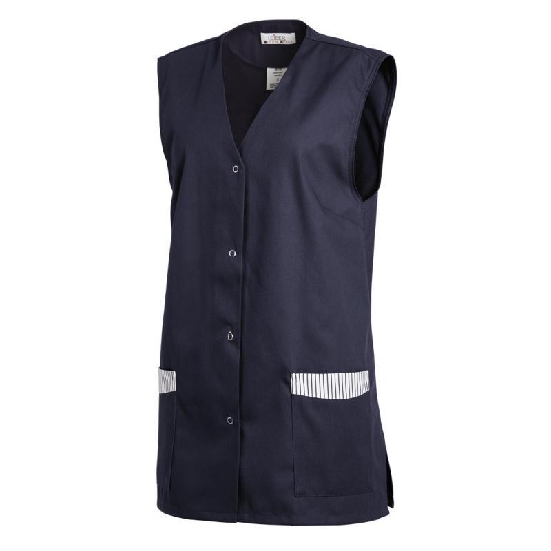 Kasack ohne Arm 515 von LEIBER / Farbe: marine / 65 % Polyester 35 % Baumwolle - | MEIN-KASACK.de