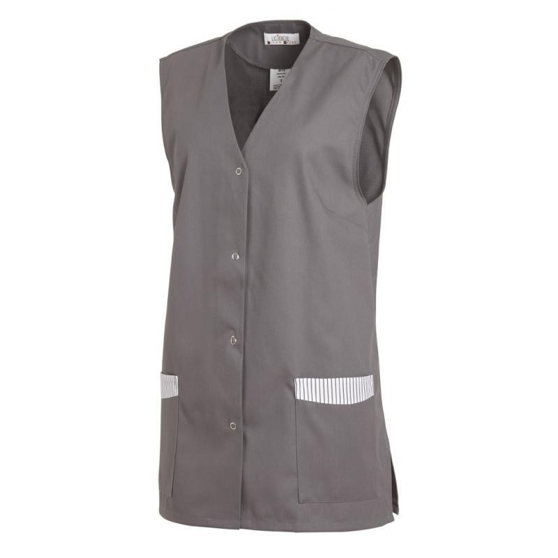Kasack ohne Arm 515 von LEIBER / Farbe: grau / 65 % Polyester 35 % Baumwolle - | Wenn Kasack - Dann MEIN-KASACK.de | Kas