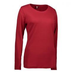 Interlock Damen T-Shirt | Langarm| 0509 von ID / Farbe: rot / 100% BAUMWOLLE - | MEIN-KASACK.de