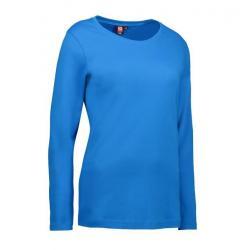 Interlock Damen T-Shirt | Langarm| 0509 von ID / Farbe: türkis / 100% BAUMWOLLE - | MEIN-KASACK.de