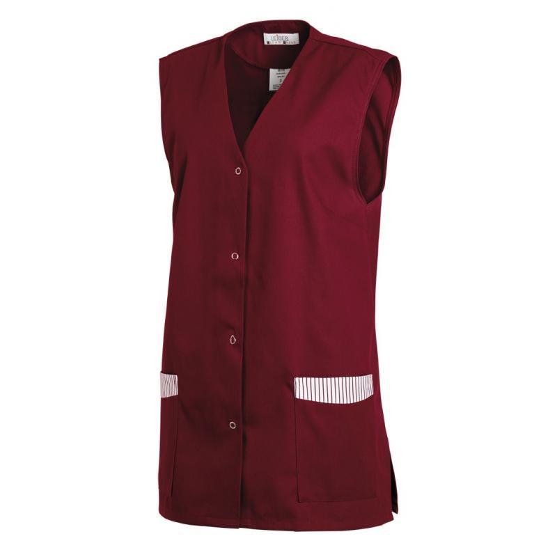 Kasack ohne Arm 515 von LEIBER / Farbe: bordeaux / 65 % Polyester 35 % Baumwolle - | Wenn Kasack - Dann MEIN-KASACK.de |