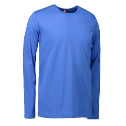 Interlock Herren T-Shirt | Langarm| 0518 von ID / Farbe: azur / 100% BAUMWOLLE - | MEIN-KASACK.de