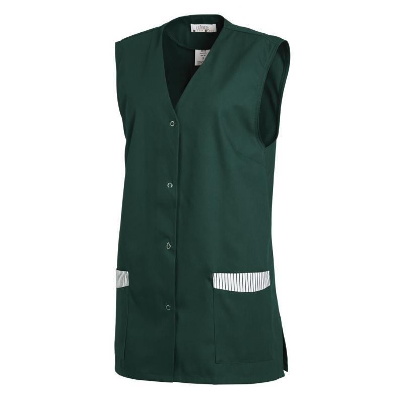 Kasack ohne Arm 515 von LEIBER / Farbe: bottle green / 65 % Polyester 35 % Baumwolle - | Wenn Kasack - Dann MEIN-KASACK.