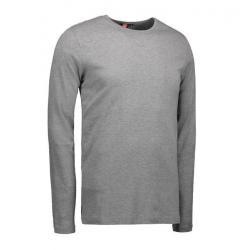 Interlock Herren T-Shirt | Langarm| 0518 von ID / Farbe: grau / 100% BAUMWOLLE - | MEIN-KASACK.de