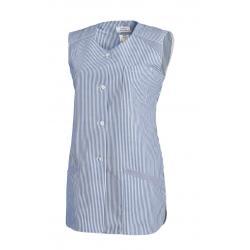 Damen -  Kasack ohne Arm 706 von LEIBER / Farbe: hellblau / 65 % Polyester 35 % Baumwolle - | MEIN-KASACK.de | kasack |