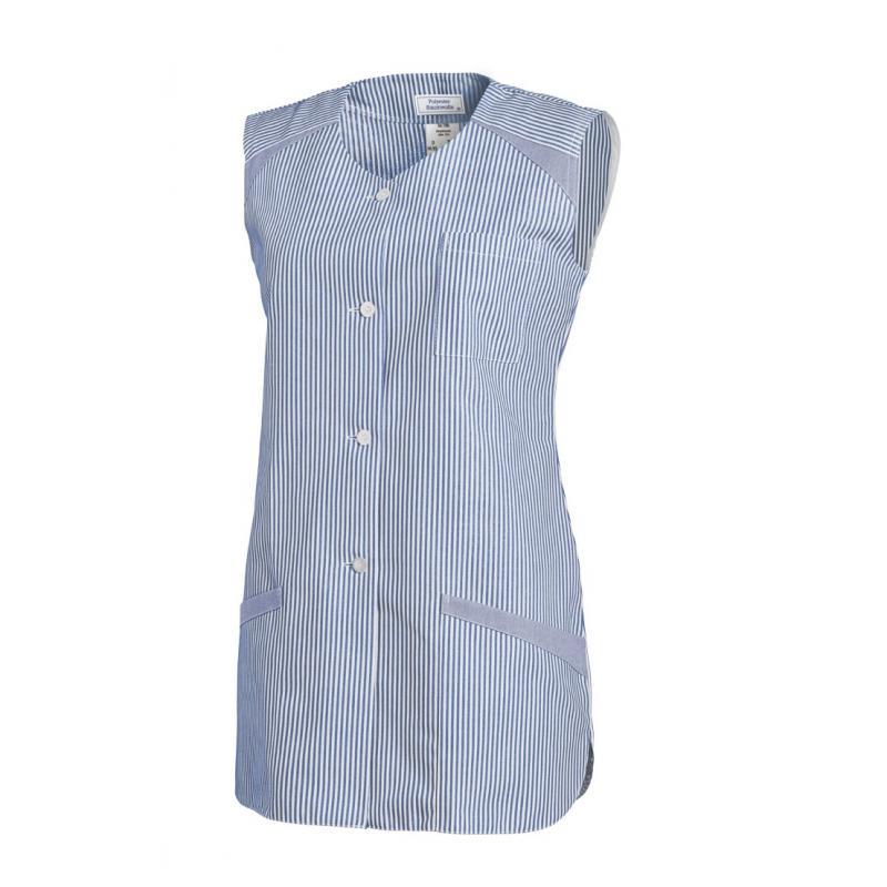 Kasack ohne Arm 706 von LEIBER / Farbe: hellblau / 65 % Polyester 35 % Baumwolle - | Wenn Kasack - Dann MEIN-KASACK.de |