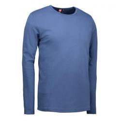 Interlock Herren T-Shirt | Langarm| 0518 von ID / Farbe: indigo / 100% BAUMWOLLE - | MEIN-KASACK.de