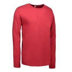 Interlock Herren T-Shirt | Langarm| 0518 von ID / Farbe: rot / 100% BAUMWOLLE - | MEIN-KASACK.de