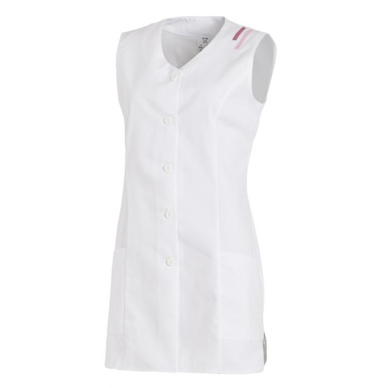 Kasack ohne Arm 1246 von LEIBER / Farbe: weiß / 65 % Polyester 35 % Baumwolle - | MEIN-KASACK.de