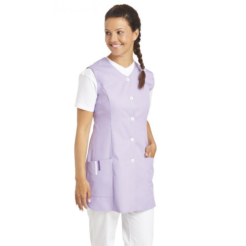 Damen -  Kasack ohne Arm 1246 von LEIBER / Farbe: flieder / 65 % Polyester 35 % Baumwolle - | MEIN-KASACK.de