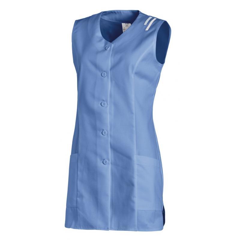 Kasack ohne Arm 1246 von LEIBER / Farbe: blau / 65 % Polyester 35 % Baumwolle - | Wenn Kasack - Dann MEIN-KASACK.de | Ka