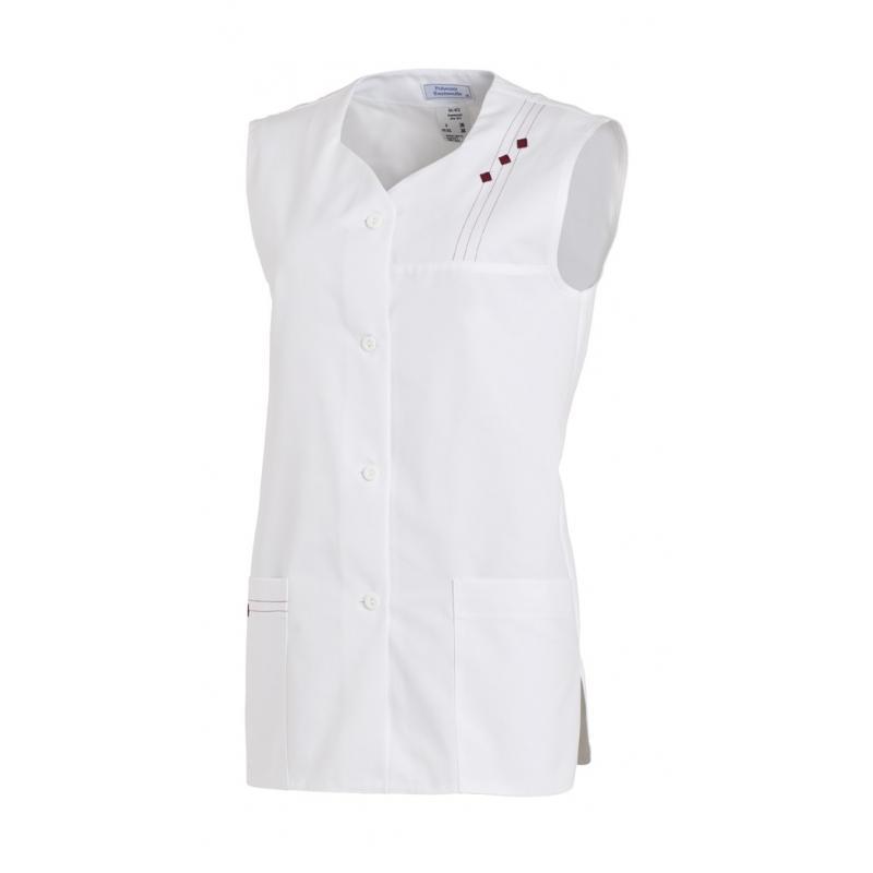 Kasack ohne Arm 472 von LEIBER / Farbe: weiß / 65 % Polyester 35 % Baumwolle - | Wenn Kasack - Dann MEIN-KASACK.de | Kas