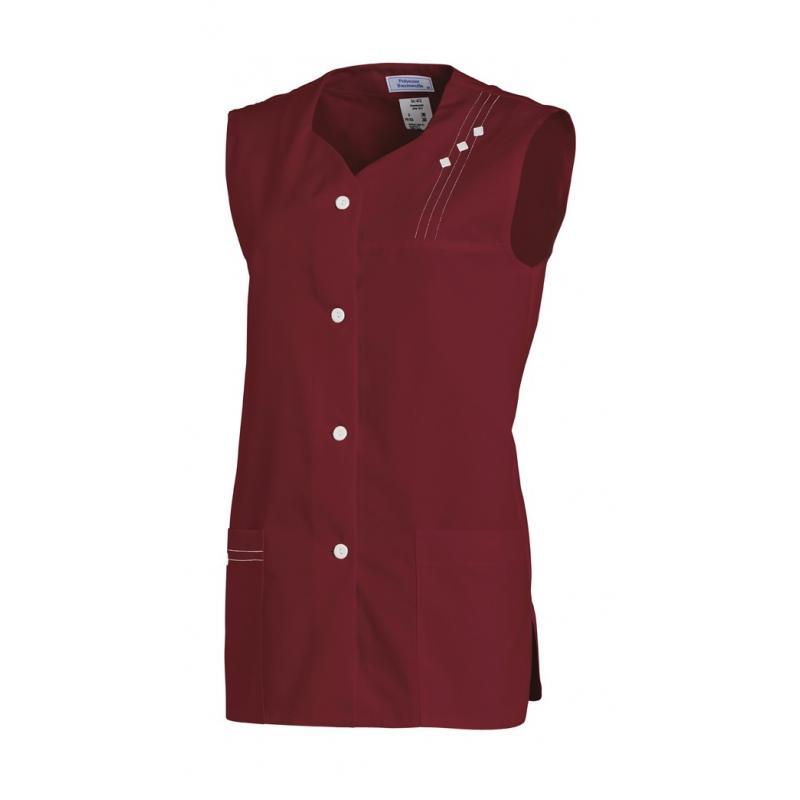 Kasack ohne Arm 472 von LEIBER / Farbe: bordeaux / 65 % Polyester 35 % Baumwolle - | Wenn Kasack - Dann MEIN-KASACK.de |