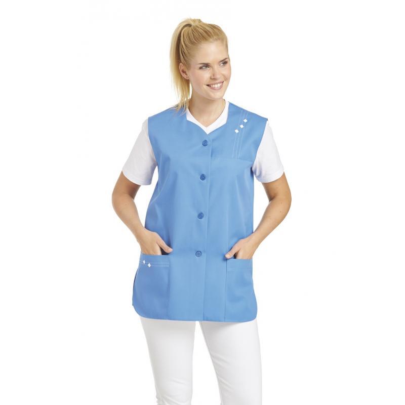 Kasack ohne Arm 472 von LEIBER / Farbe: blau / 65 % Polyester 35 % Baumwolle -   Wenn Kasack - Dann MEIN-KASACK.de   Kas