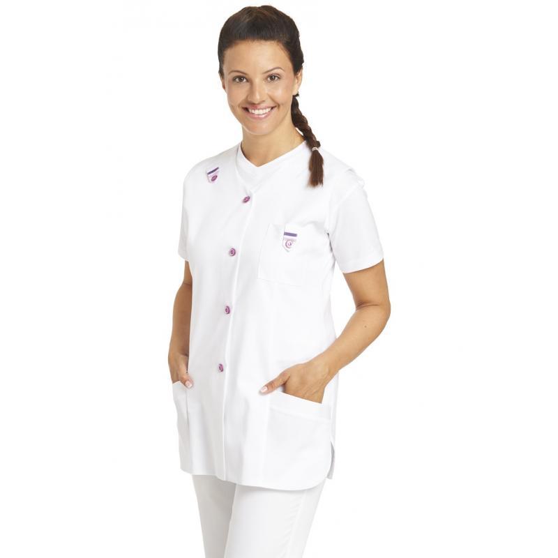 Kasack ohne Arm 477 von LEIBER / Farbe: weiß / 65 % Polyester 35 % Baumwolle - | Wenn Kasack - Dann MEIN-KASACK.de | Kas