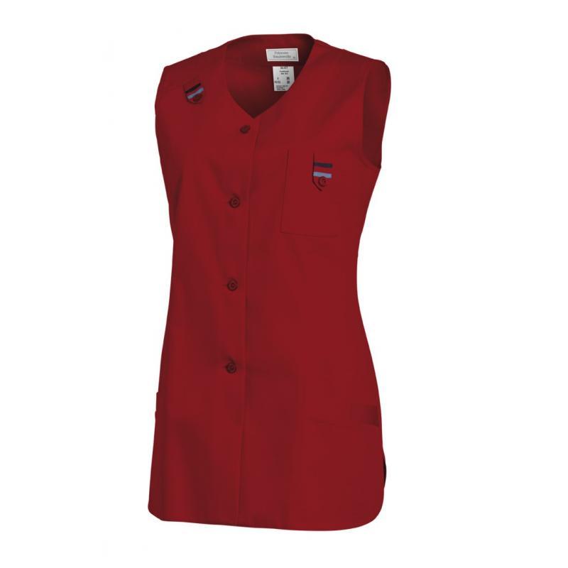 Kasack ohne Arm 477 von LEIBER / Farbe: rot / 65 % Polyester 35 % Baumwolle - | MEIN-KASACK.de