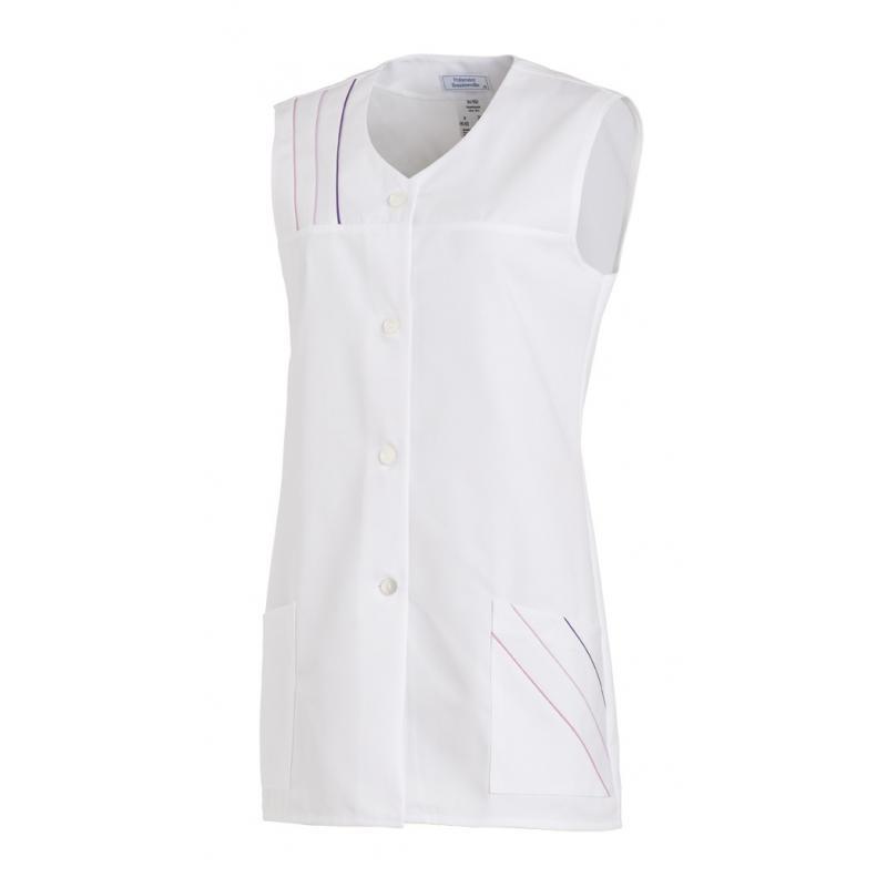 Kasack ohne Arm 553 von LEIBER / Farbe: weiß / 65 % Polyester 35 % Baumwolle - | Wenn Kasack - Dann MEIN-KASACK.de | Kas